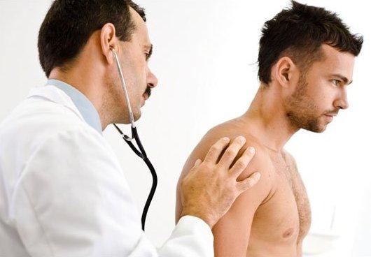Guy gets medical check up